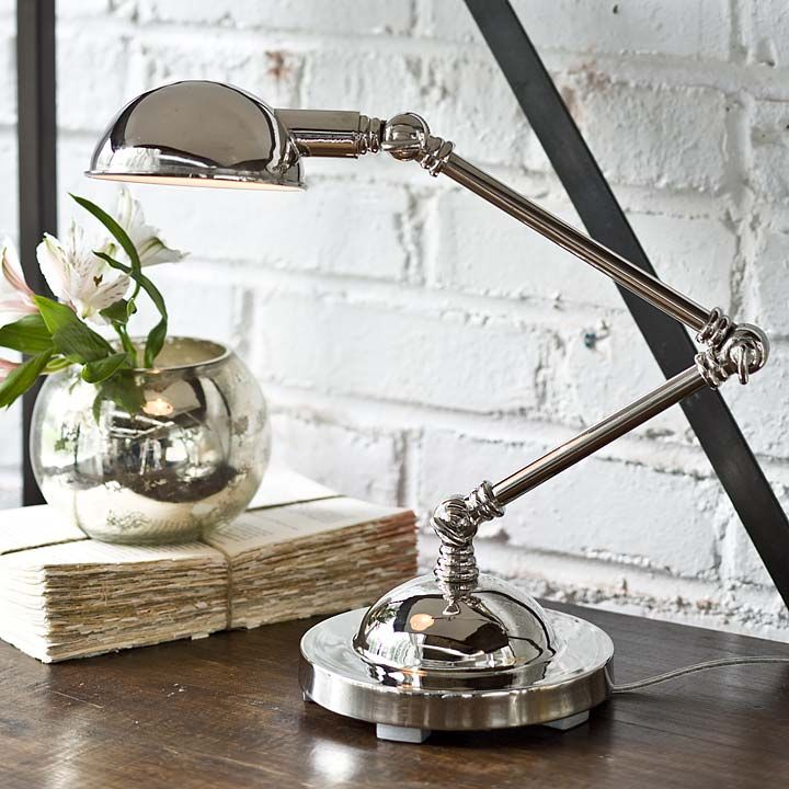 Mini task lamp in polished nickel — Bellissimo!