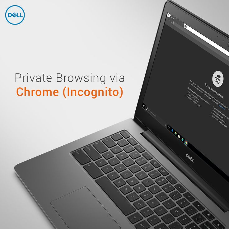 Did you know?   Chrome has a private browsing mode called Incognito.  It reduces the amount of data saved from websites, and doesn't save browsing history, cookies, site or form data.  Learn more about how to access Incognito and how it can help.  But beware, website activity may still be visible to your employer, your school, or your ISP.   #DellTips