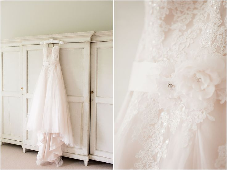 Pale pink wedding dress, wedding gown, tulle wedding dress, cornwall manor wedding, fine art wedding photography, bowtie and belle photography, light and airy photography, oxfordshire wedding photographer