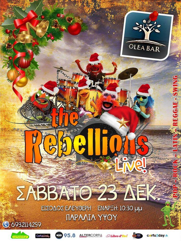 Σάββατο 23 Δεκεμβρίου, το Olea Bar που βρίσκεται στην παραλία Ύψου, παρουσιάζει τους Rebellions. Διαβάστε περισσότερα...