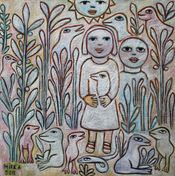 Mirka Mora - Chatter in the Garden