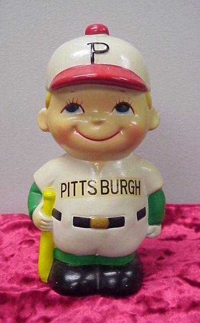 Nice Vintage Pittsburgh Pirates Baseball Player Coin Bank