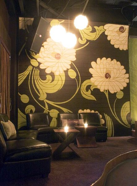 Large Graphic Flower Mural On Wood By Metro Finishes In Orlandou0027s Suite B  Lounge. Part 59