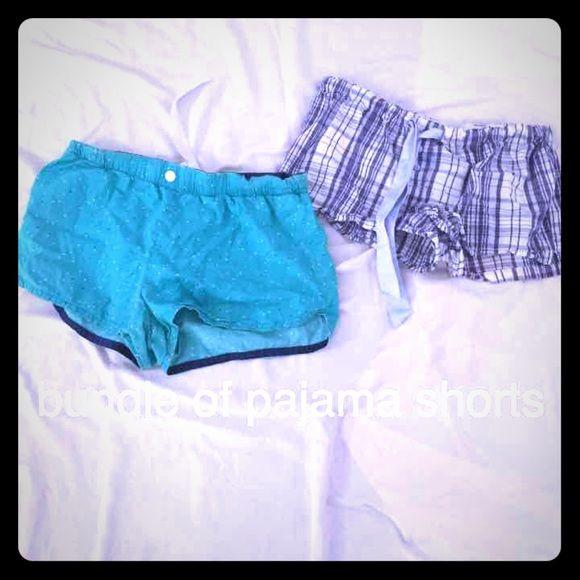 bundle of pj shorts both sz m in EUC cute pj shorts blue plaid faded glory teal Xhiliration sz m‼️ Xhilaration Shorts