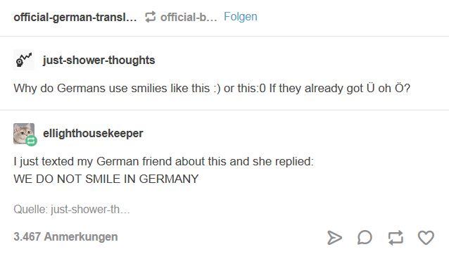 WE DO NOT SMILE IN GERMANY