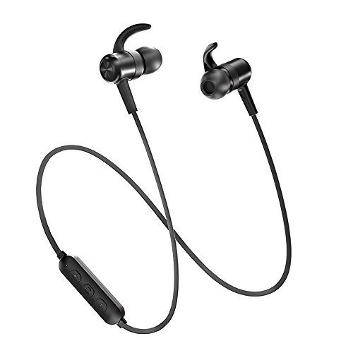 TaoTronics Wireless Earbuds IPX6 Sweatproof Sport Earphones-Bluetooth Headphones Lightweight & Fast Pairing (Snug Silicon Earbuds Magnetic Design cVc 6.0 Noise Cancelling Mic 9 Hour Playback)