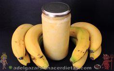 Receta saludable de MERMELADA DE PLÁTANO O BANANA sin azúcar (con miel o stevia) baja en calorías, apta para diabéticos y baja en colesterol. COCINA FÁCIL Y SANA. INCLUYE VIDEO.