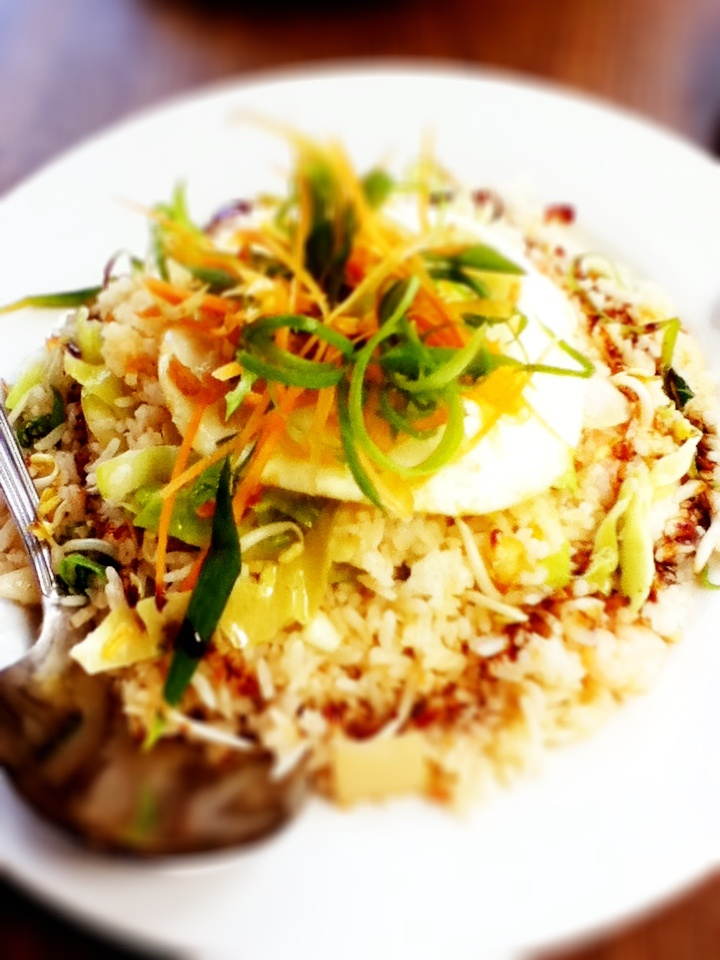Nasi goreng with spicy seafoods. Yum! http://www.weekendsidetrip.com/john-bamboo-sate-house/