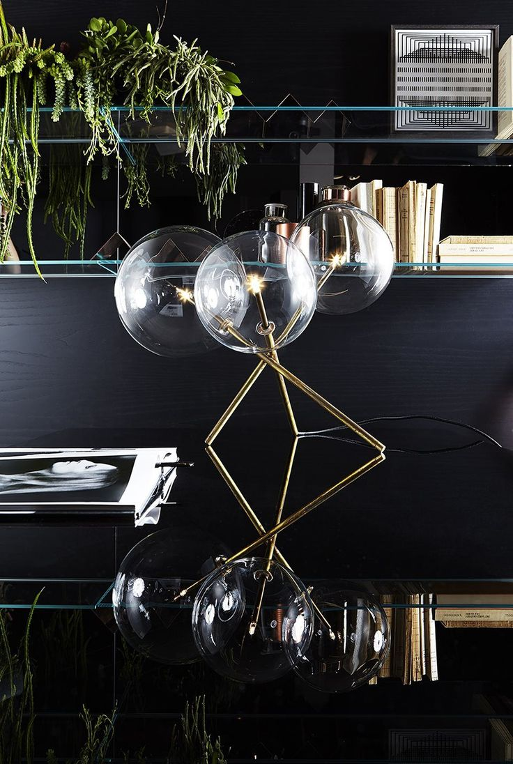 1000 ideas about joe colombo on pinterest luminaire design product - Bolle Tavolo 3 Table Lamp With Halogen Point Light Transparent Blown Glass Spheres
