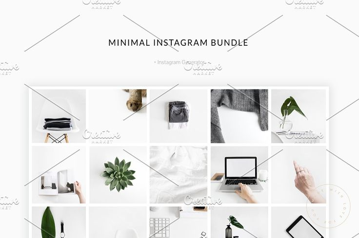 You love minimalism and love to share beautiful images on your Instagram profile? You want to mix up your feed with some neutral images or you need some images with a lot of space for great quotes? Then you should take a closer look to our beautiful and minimal Instagram Bundle!