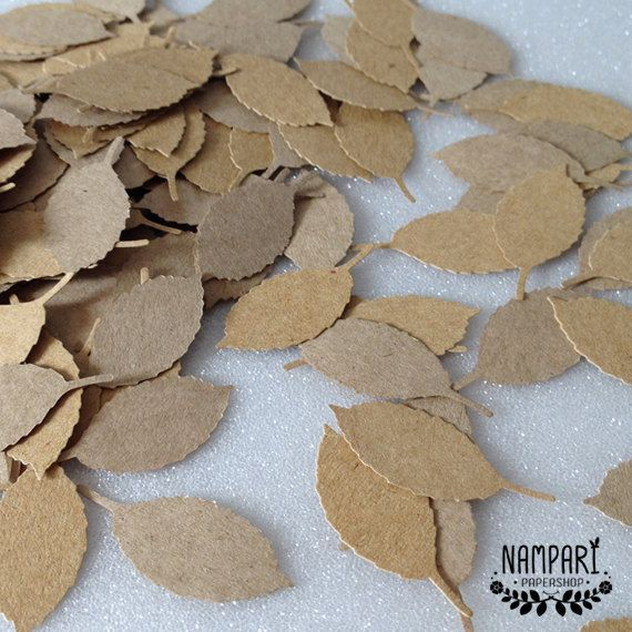{ Kraft Rose Leaf Die Cuts }  These item are perfect for card decorations, scrapbooking and other paper crafts. DETAILS: • Rose Leaf