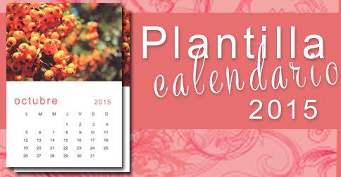 Crea un calendario bellísimo con esas fotos que tienes guardada en tu computadora en minutos con esta facil plantilla Calendario 2015, ideal para regalar.