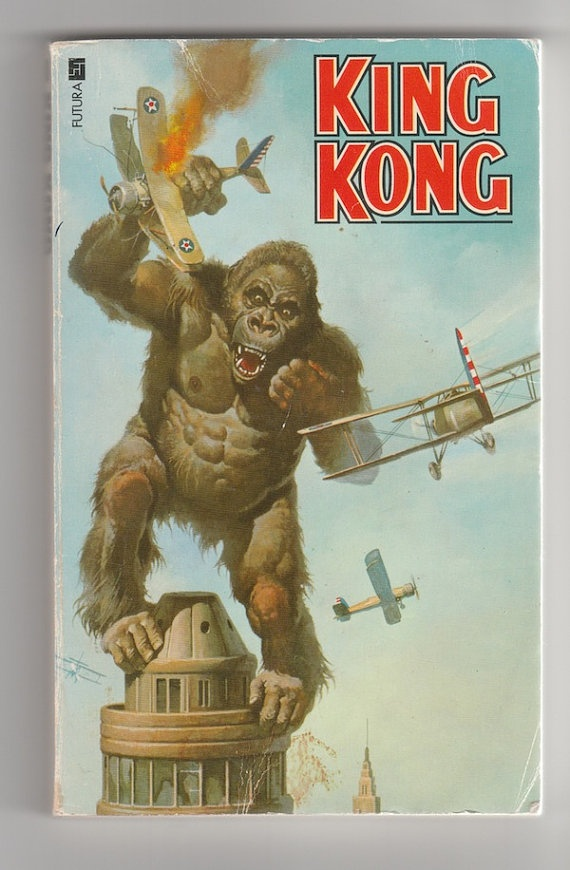 King Kong Vintage paperback book 1970s, movie novelization ...