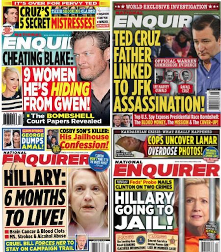 DONALD TRUMP BOOSTS THE NATIONAL ENQUIRER GENERAL ELECTION LOOMS