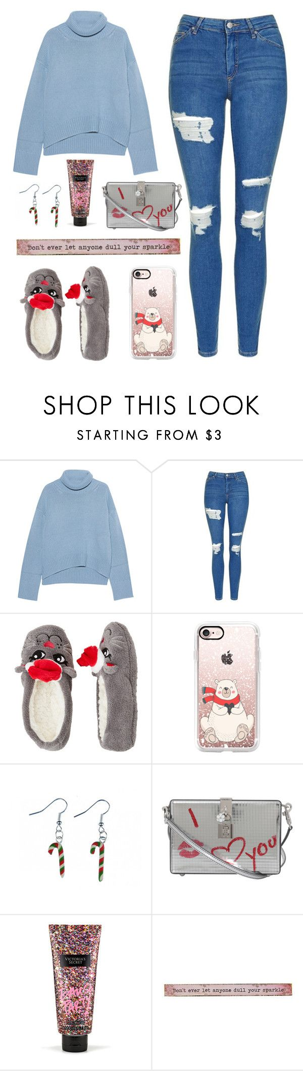 """Boxing Day"" by aemun-ahmad ❤ liked on Polyvore featuring iHeart, Topshop, Capelli New York, Casetify, Dolce&Gabbana, Victoria's Secret and Natural Life"