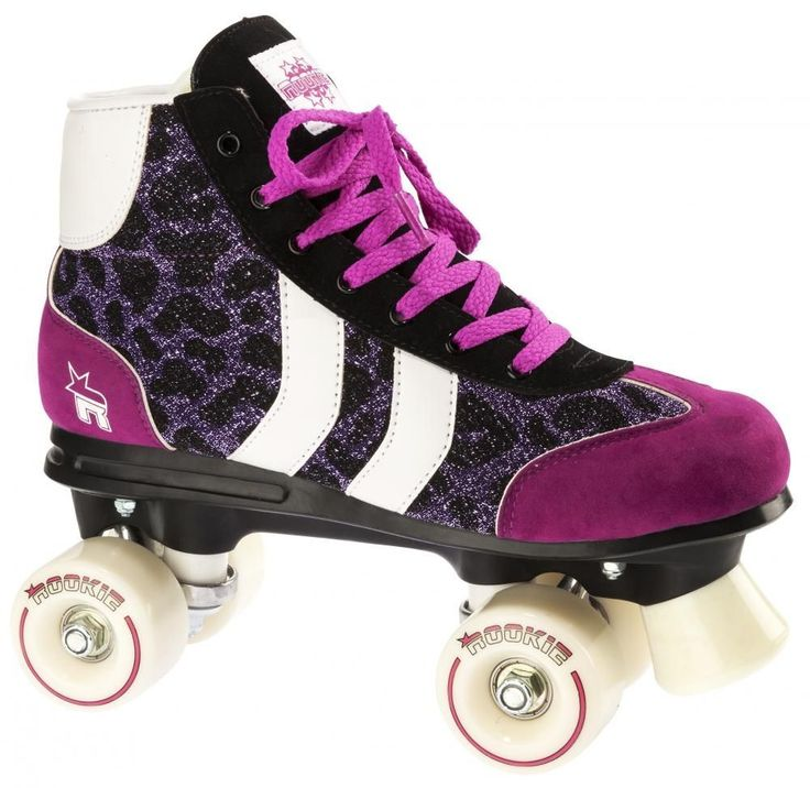 Roller Quad Rookie Retro Purple Glitter
