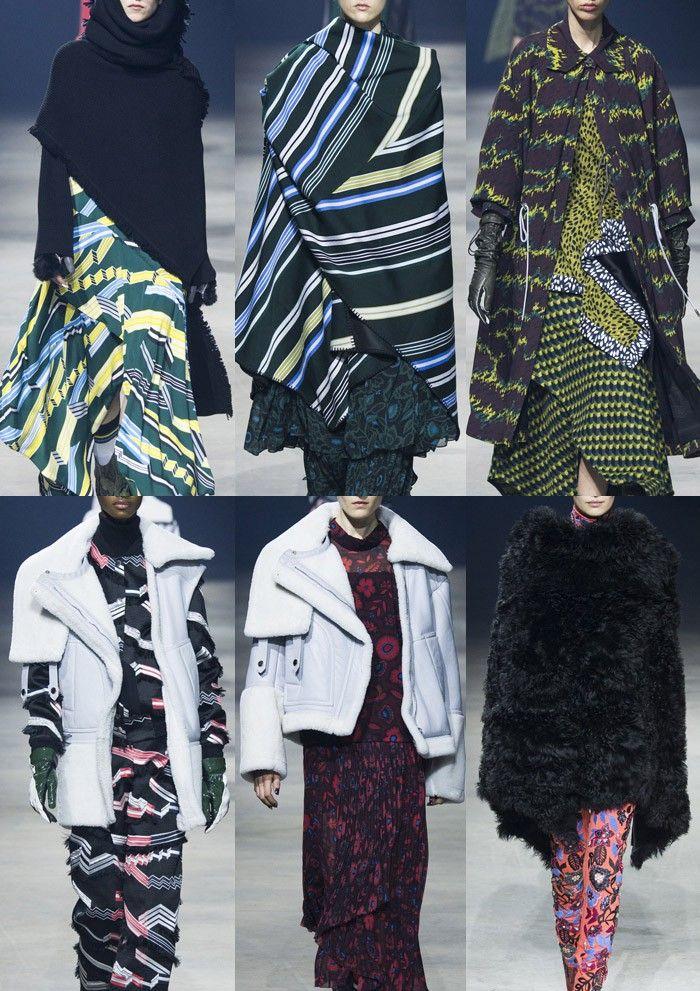 Paris Fashion Week Womenswear Print Hoogtepunten Deel 2 - Herfst / Winter 2015/16 | Patternbank Lint Stripes - Bold Line Variatie - Vertical Stripes - Verf Marks - Geweven Dabs - 3-dimensionale Geos - Camo Texture - Zig-Zag Stripes - Gestileerde Bloemen - Oriental Chinoiserie