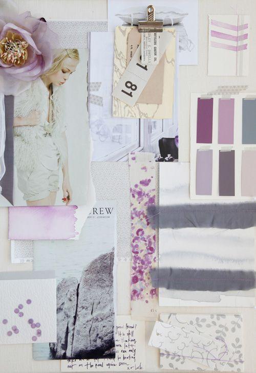 Purple & Gray Mood Board