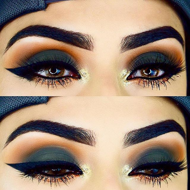 """#throwback I got my last midterm tomorrow  so hopefully new looks soon! ❤️ @anastasiabeverlyhills Subculture Palette  #subculturepalette Ebony #dipbrow Waterproof Creme colour """"Jet"""" @lashedoutca """"Envy"""" lashes use code """"Rijaimran10"""" for  off! @solotica_official Hidrocor Avela contacts"""