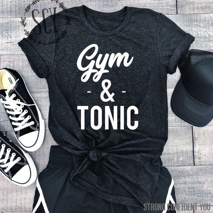 Gym And Tonic. Funny Gym Tee. Gym Gear. Women's Workout Clothes. Workouts. Workout Shirt. Motivation. Humor. #GymHumor