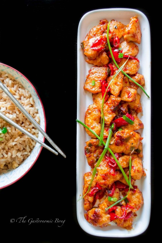 Szechuan Style Chicken in Chilli Bean Sauce with Egg Fried Rice   The Gastronomic BONG