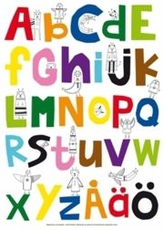 ABCD Affisch 50x70 - Lisa Ullenius - 9789185861231 | Bokus bokhandel