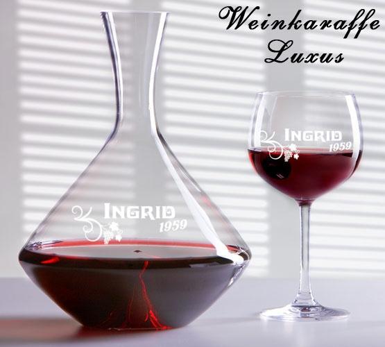 Geschenke24 - Weingläser mit eigener Gravur.