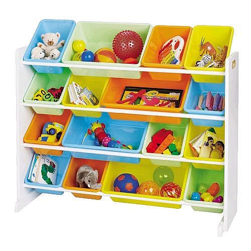 Tot Tutors White With Pastel Colors Super Size Organizer Playroom