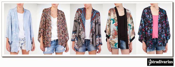 Kimonos:   Ya desde el año pasado una de las tendencias de la temporada primavera/verano es la oriental y la chaqueta kimono se está convirtiendo en una prenda imprescindible. A estas alturas ya habréis visto que las marcas low-cost han apostado fuerte por este tipo de chaquetas. A mí me encantan y  depende del estampado las puedes llevar para diferentes momentos del día.