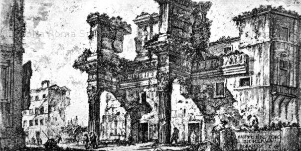 Roma Sparita - Foro di Nerva, Colonnacce. Giovanni Battista Piranesi 1751
