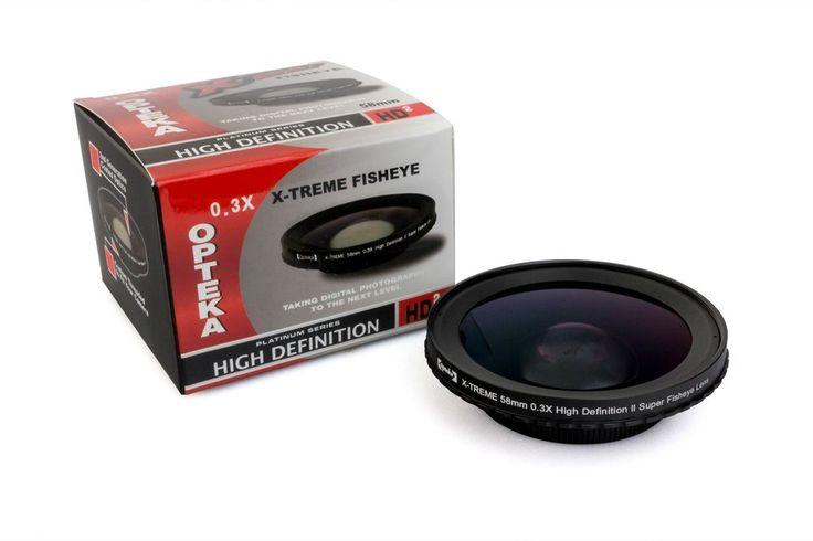 Opteka X-TREME 58mm 0.3X HD Super Video Fisheye Lens #Opteka