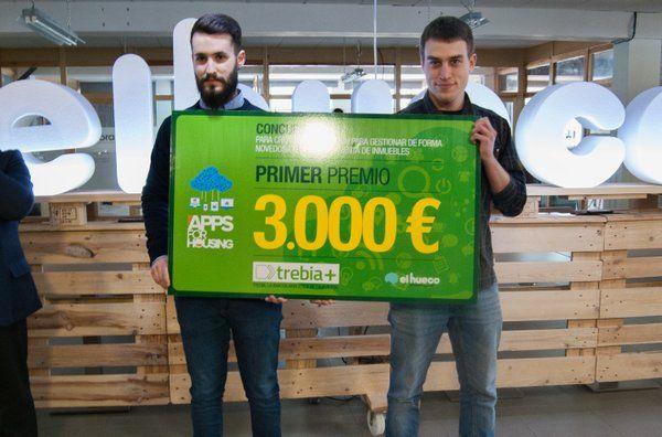 """Enhorabuena a Ian Ortega y Víctor Morga, ganadores del concurso """"#Apps for Housing"""" #trebia #inmobiliaria #etica """""""