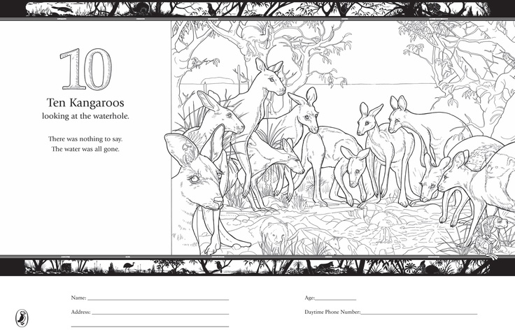 The Waterhole Colouring In  http://www.puffin.com.au/files/colouring-pages/Waterhole-GraemeBase2.pdf
