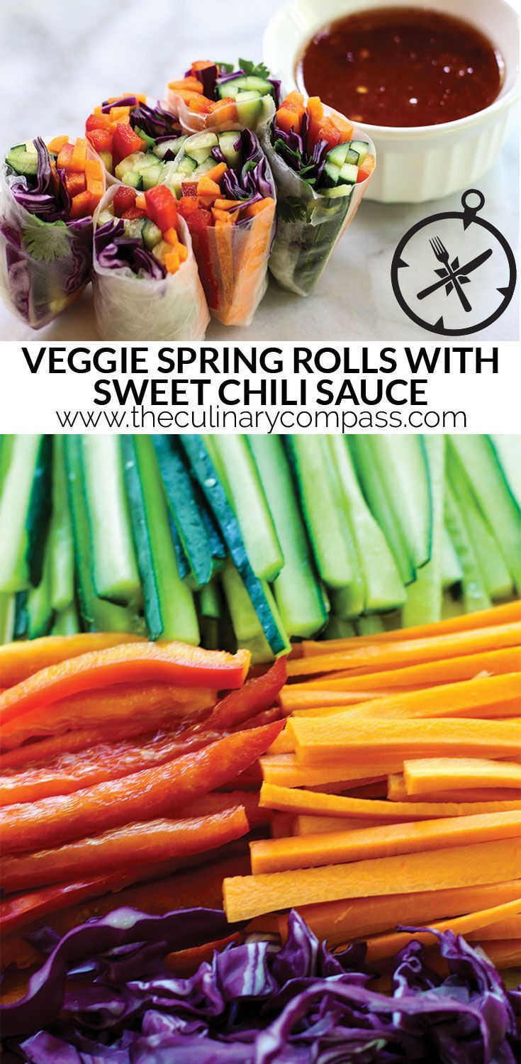These Veggie Spring Rolls with homemade Sweet Chili Sauce are so versatile and so delicious!