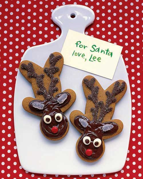Love this...use gingerbread man cookie cutters, to make reindeer cookies! Courtesy of