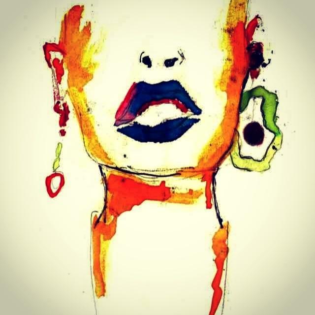 Edited lady lips