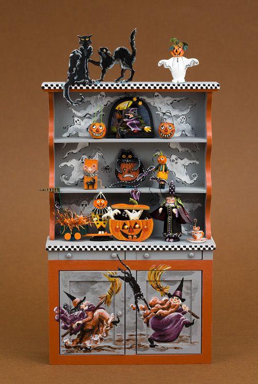 Karen Markland wonderful filled Halloween cupboard