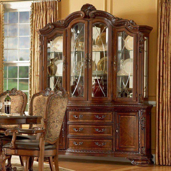 Old World Leg Dining Room Set Dining Room Sets Furniture China Cabinet
