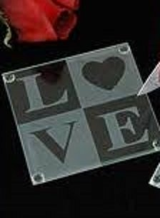 Spring RoseTM 50 Sets Love Glass Coaster Gift Set Coasters In Total Great For Wedding Favors Or Gifts Any Event 2 Per