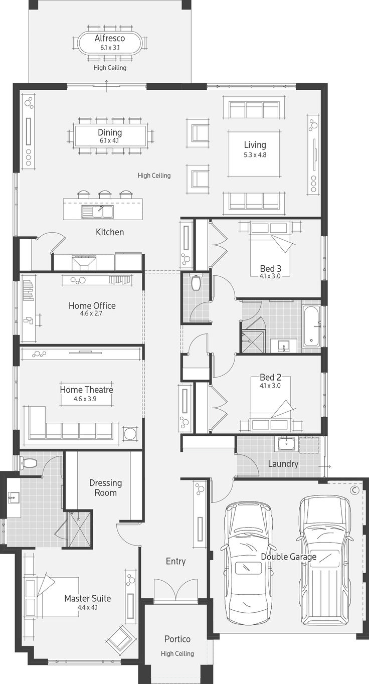 235 best Architectural drawing images on Pinterest | House design ...