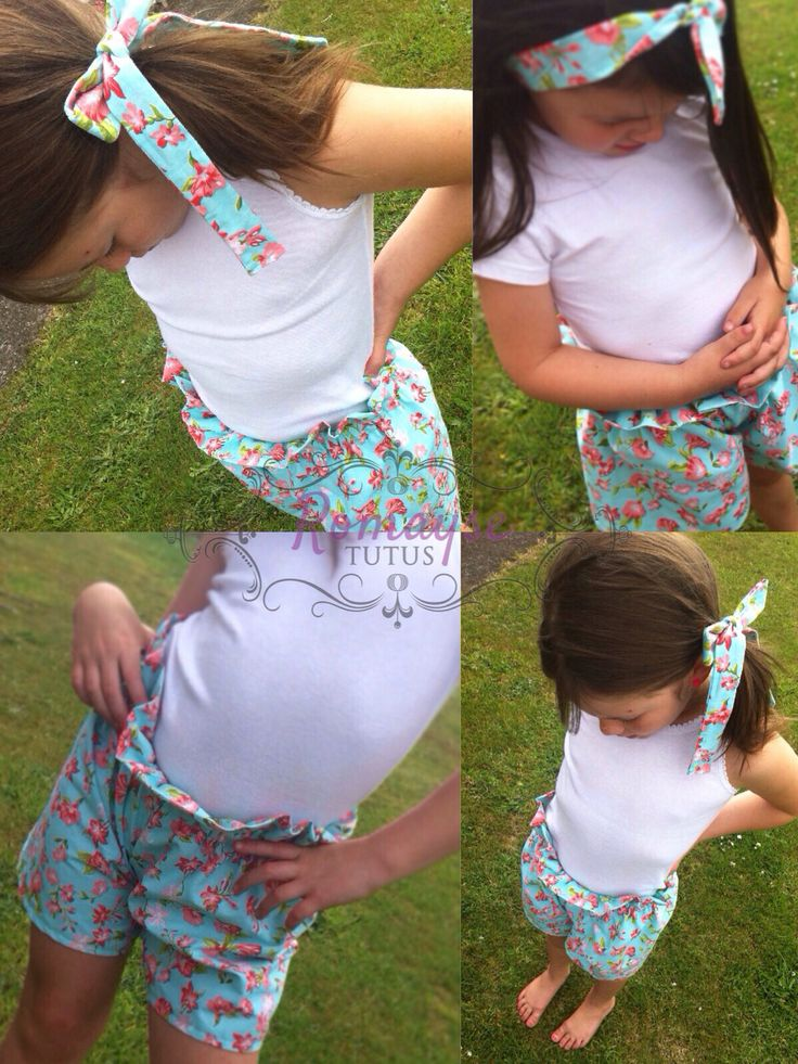 New High waisted Shorts with matching Headwrap $35-$45 a set, ages 1-7yrs