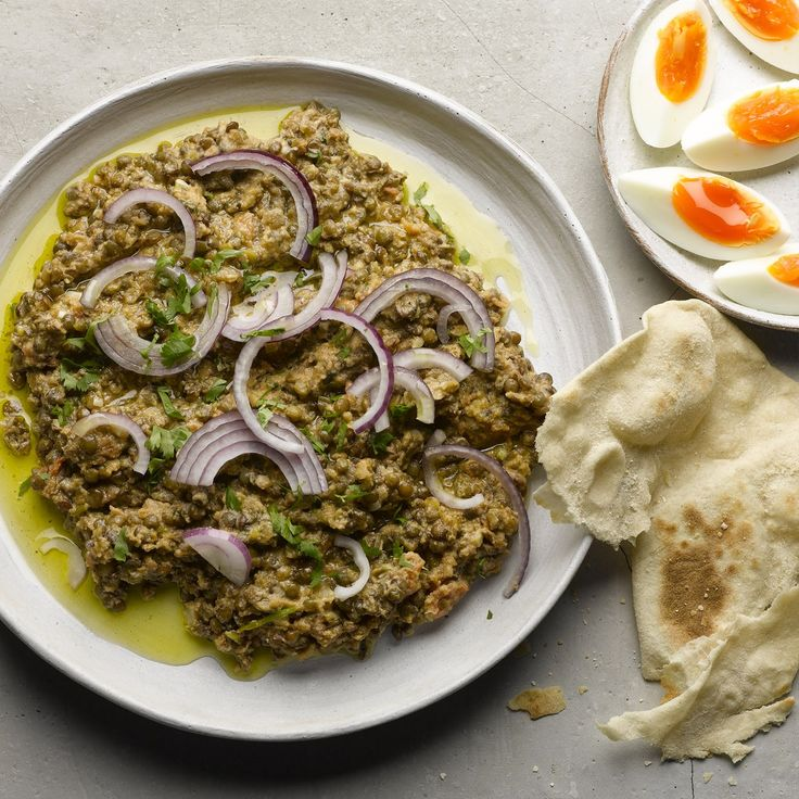 Crushed puy lentils with tahini and cumin I Ottolenghi recipes I This sustaining meal-on-a-plate is a little bit like hummus, though much easier and quicker to prepare. With warm flatbread, I could eat this every day. Serves two as a main, or four as a st