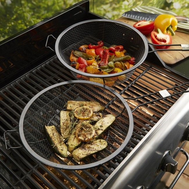 The Outset BBQ Non-Stick Grill Basket is the perfect way to grill and sear seafood, veggies and other food to small to place directly on your BBQ grill.