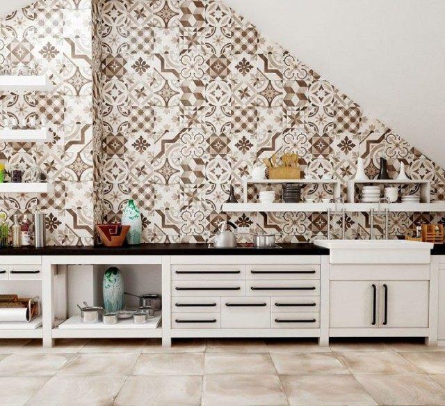 44 best cuisine relooking images on Pinterest Kitchen ideas, My - carrelage mur cuisine moderne
