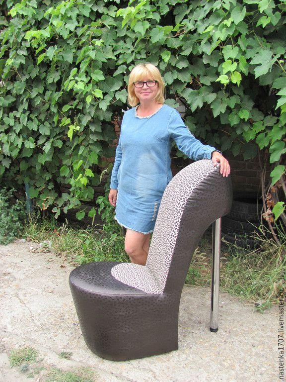 Купить кресло-туфелька - разноцветный, креативная мебель, дизайнерская мебель, необычная мебель, ручная работа