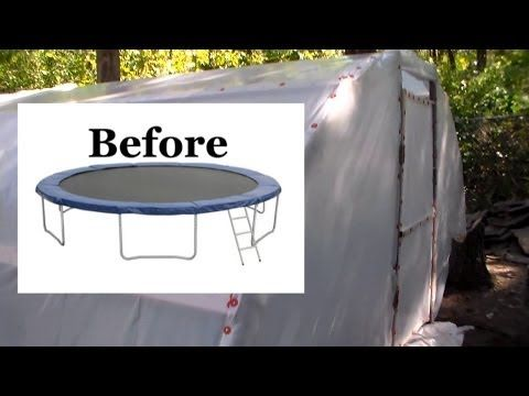 VIDEO: How To Turn A Trampoline Into a Greenhouse! -