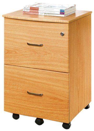 Techni mobili mdf mobile file cabinet oak by techni for Mobili mdf