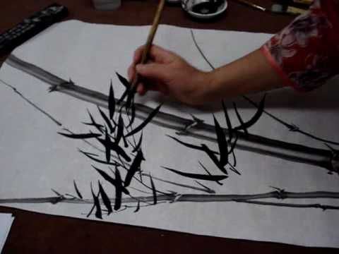 Chinese Painting Bamboo for Beginners--Windy Bamboo - YouTube