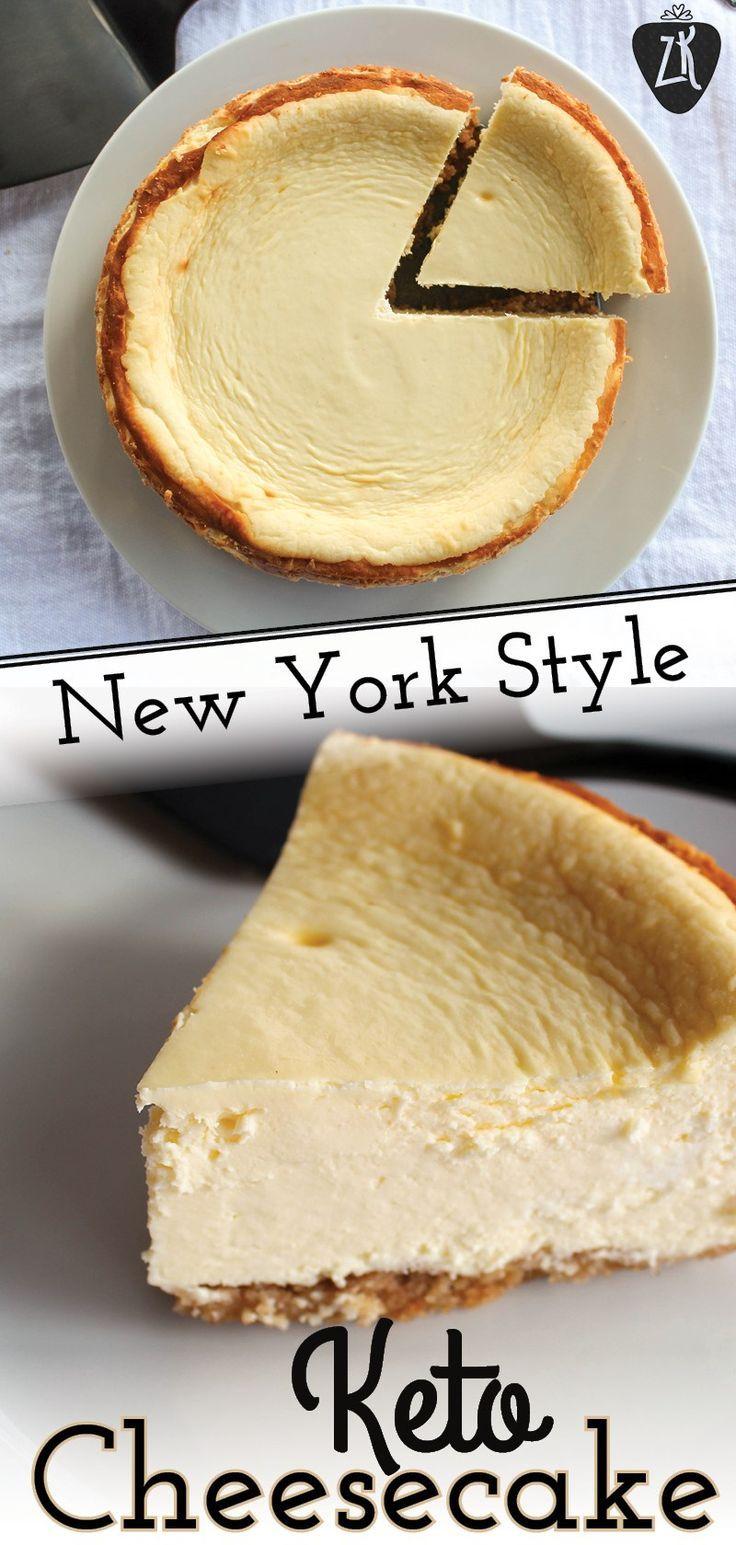 Dieser 6-Zoll-Keto-Käsekuchen im New Yorker Stil …
