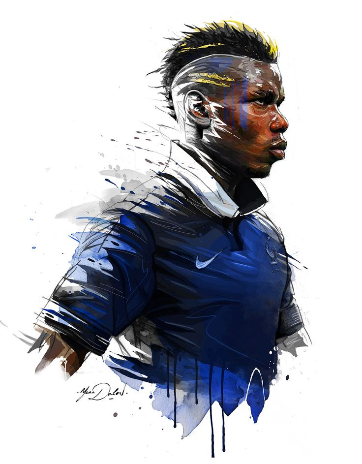 My painting of Paul Pogba, french player of soccer, Juventus Turin.